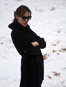 Angelina Jolie Oscar-díjas amerikai színésznő első filmes rendezésének forgatásán Budapesten 2010. november 8-án
