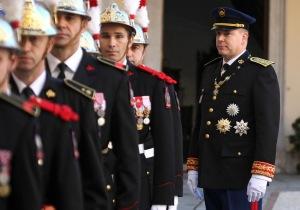 II. Albert, Monaco uralkodó hercege a monacói nemzeti ünnepen 2010. november 19-én