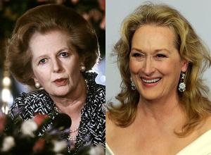 Margaret Thatcher 1986-ban, 60 évesen és Meryl Streep 2010-ben, 60 évesen