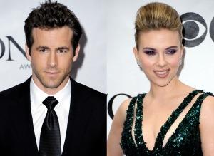 Ryan Reynolds kanadai színész és Scarlett Johansson amerikai színésznő New Yorkban 2010. június 13-án