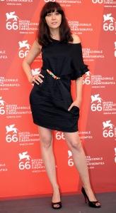 Gryllus Dorka magyar színésznő a Velencei Filmfesztiválon 2009. szeptember 19-én