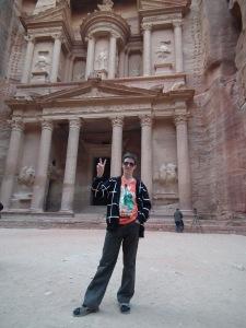 A blog főszerkesztője a jordániai Petrában - Mészáros Márton felvétele -