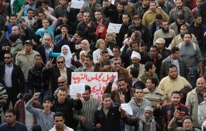 A 30 éve hatalmon lévő Hoszni Mubarak egyiptomi elnök távozását követelő tüntetések Egyiptomban 2011. január 29-én