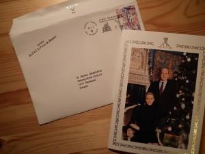 II. Albertnek, Monaco uralkodó hercegének Mészáros Mártonnak címzett levele