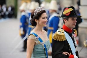 Mária hercegnő és férje, Frigyes dán trónöröskös Stockholmban 2010. június 19-én