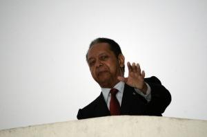 Jean-Claude Duvalier egykori haiti diktátor Port-au-Prince-ben 2011. január 21-én