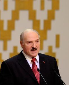 Aljakszandr Lukasenka fehérorosz elnök beiktatási ünnepségén Minszkben 2011. január 21-én