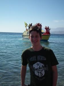 Mészáros Márton Egyiptomban 2010. december 25-én