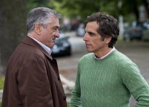 Robert DeNiro és Ben Stiller amerikai színészek az Utódomra ütök (Little Fockers) című amerikai film egyik jelenetében