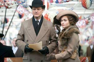 Colin Firth és Helena Bonham Carter brit színészek A király beszéde (The King's Speech) című film egyik jelenetében
