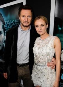 Liam Neeson ír színész és Diane Kruger német színésznő Az ismeretlen férfi (Unknown) című filmjük bemutatóján Los Angelesben 2011. február 16-án