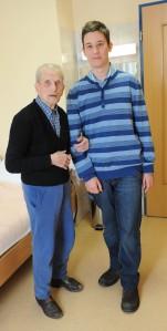Mészáros Márton és Gallai Rezső, Magyarország legidősebb emberével Győrben 2011. február 12-én