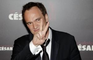 Quentin Tarantino amerikai rendező megérkezika a César-díjak átadására Párizsban 2011. február 25-én