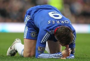 Fernando Torres, a Chelsea spanyol csatára Londonban 2011. február 6-án, az angol első osztályú labdarúgó-bajnokság Chelsea-Liverpool mérkőzésén