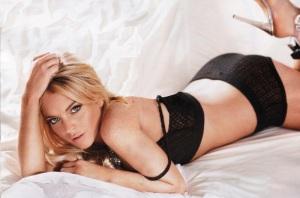 Lindsay Lohan amerikai színésznő a Maxim magazin 2010 szeptemberi számában