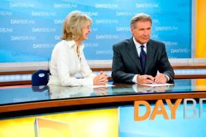Diane Keaton és Harrison Ford amerikai színészek az Ébredj velünk! (Morning Glory) című film egyik jelenetében