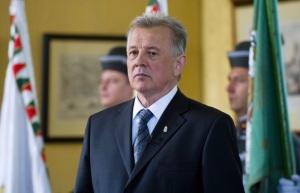 Schmitt Pá magyar köztársasági elnök a Sándor-palotában 2011. április 25-én
