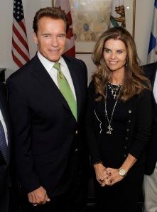 Arnold Schwarzenegger amerikai színész, kaliforniai kormányzó és felesége, Maria Shriver