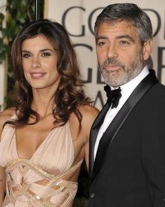 Elisabetta Canalis olasz manöken-színésznő és George Clooney Oscar-díjas amerikai színész