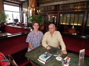 Mészáros Márton és Nemere István magyar író Budapesten 2011. június 29-én