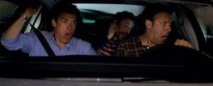 Jason Bateman, Charlie Day és Jason Sudeikis amerikai színészek a Főrtelmes főnökök (Horrible Bosses) című film egyik jelenetében
