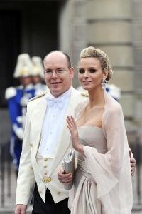 II. Albert monacói herceg és dél-afrikai származású felesége, Charlene hercegnő