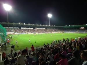 A Forma-1-es pilótákból álló labdarúgó-válogatott és a magyar All Star csapat barátságos mérkőzése a budapesti Szusza Ferenc Stadionban 2011. július 27-én