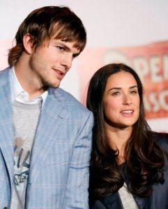Ashton Kutcher amerikai színész és felesége, Demi Moore amerikai színésznő