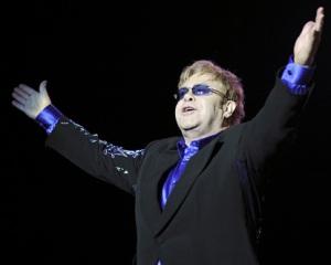 Elton John brit zenész koncertet ad Las Vegas-i Ceasars Palace-ban 2011. szeptember 28-án