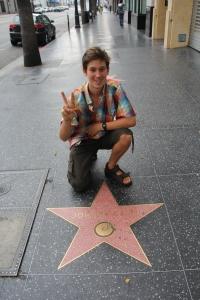 Johnny Cash amerikai énekes (1932-2003) csillagánál a hollywoodi Hírességek Sétányán (Mészáros Márton felvétele)