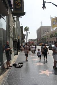 A hollywoodi Hírességek sétányán, a Walk of Fame-en (Mészáros Márton felvétele)