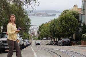 Na ez már meredek - San Francisco a háttérben az Alcatraz börtönnel (Mészáros Márton felvétele)