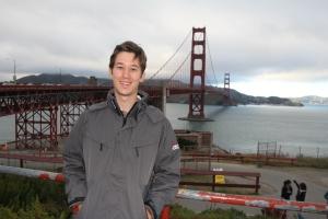 A Golden Gate-híd előtt San Franciscóban (Mészáros Márton felvétele)