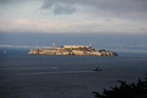 Az Alcatraz-börtönsziget a San Francisco-öböl közepén, Kalifornia államban (Mészáros Márton felvétele)