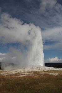 Az Old Faithfull gejzír a Yellowstone Nemzeti Parkban (Mészáros Márton felvétele)