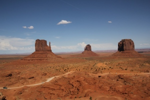A westernfilmekből jól ismert Monument Valley Arizona és Utah állam határán (Mészáros Márton felvétele)