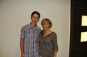 Ábrahám Edit magyar színésznővel az interjúnk után Budapesten 2011. szeptember 21-én