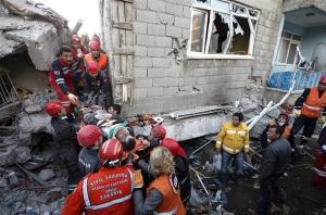 2011. október 23-án Törökország Van tartományát a Richter-skála szerinti 7,2-es erősségű földrengés rázta meg