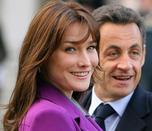 Nicolas Sarkozy francia elnök és neje, Carla Bruni
