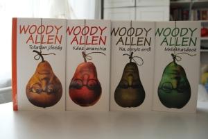 A Na, ennyit erről, a Mellékhatások, a Tollatlan jószág és a Kész anarchia című Woody Allen könyvek (Fotó: Mészáros Márton, 2011. október 27.)