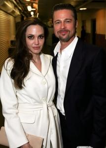 Angelina Jolie Oscar-díjas amerikai színésznő és párja, Brad Pitt amerikai színész
