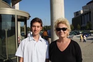 Básti Juli Kossuth-díjas színésznővel Budapesten 2011. szeptember 17-én (Fotó: Mészáros Márton)