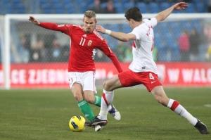 A Lengyelország-Magyarország barátságos labdarúgó-mérkőzésen Poznanban 2011. november 15-én