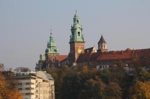 A Wawel-domb és a lengyel királyi palota Krakkóban (Fotó: Mészáros Márton)