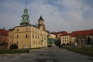 A Wawel-domb történelmi épületei Krakkóban (Fotó: Mészáros Márton)