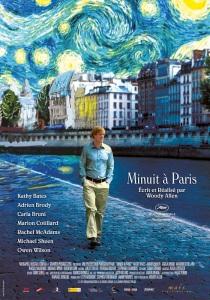 Az Éjfélkor Párizsban (Midnight in Paris) című film plakátja