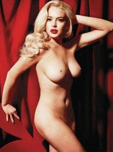 Lindsay Lohan amerikai színésznő a Playboy 2012 január/februári számában