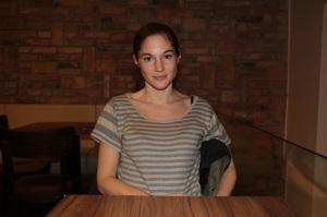 Martinovics Dorina magyar színésznő Budapesten 2011. november 29-én. (Fotó: Mészáros Márton)