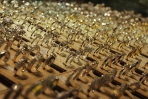 Ékszerek a kirakatban az aranypiacon, Dubaj, 2011 december (Fotó: Mészáros Márton)