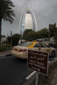 A világ egyik legdrágább szállodája, a Burdzs al-Arab (Arabok Tornya), 2011 december (Fotó: Mészáros Márton)